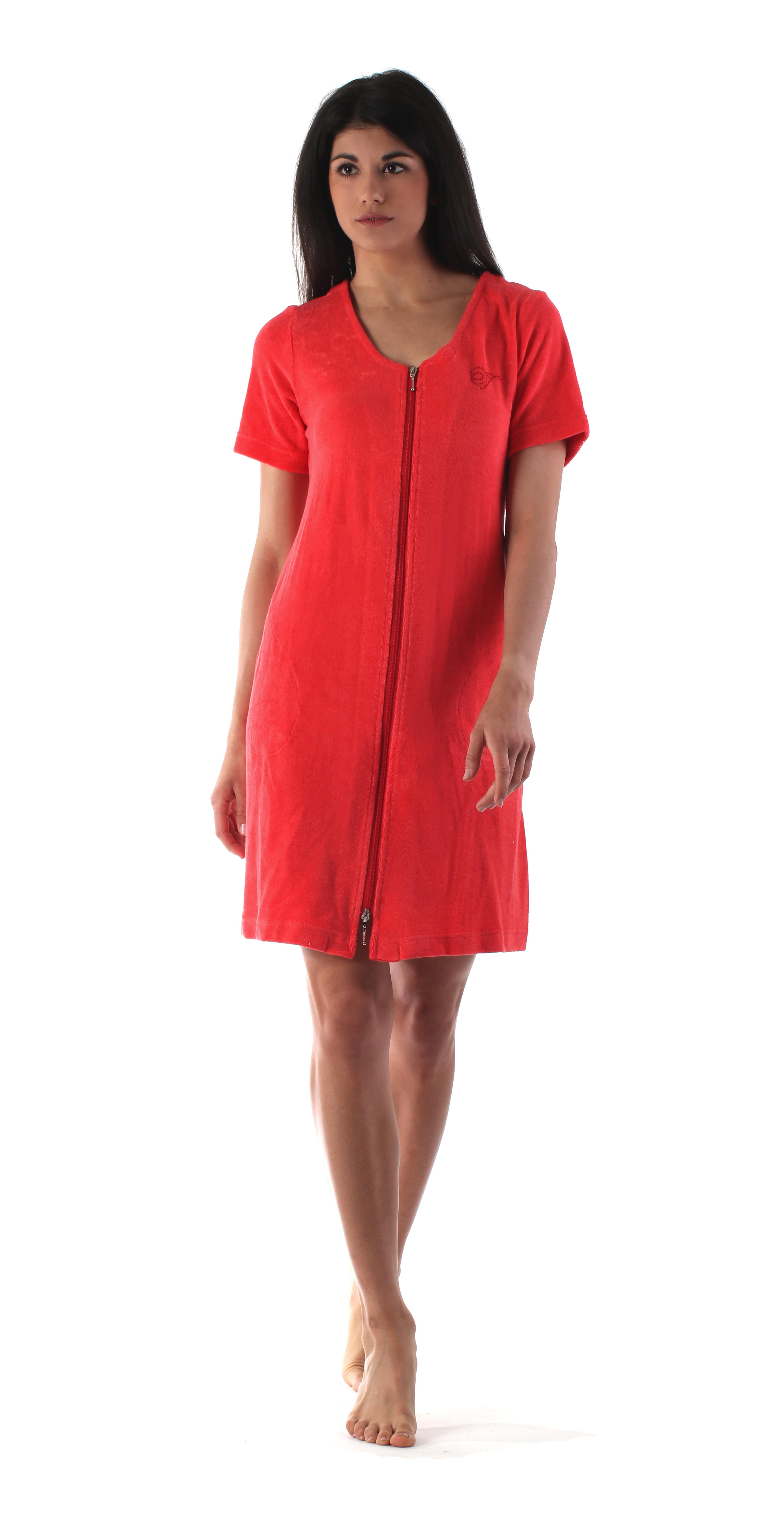 Dámské domácí šaty Bari 5164 2330 korálová vel.M - Vestis e514b0e535