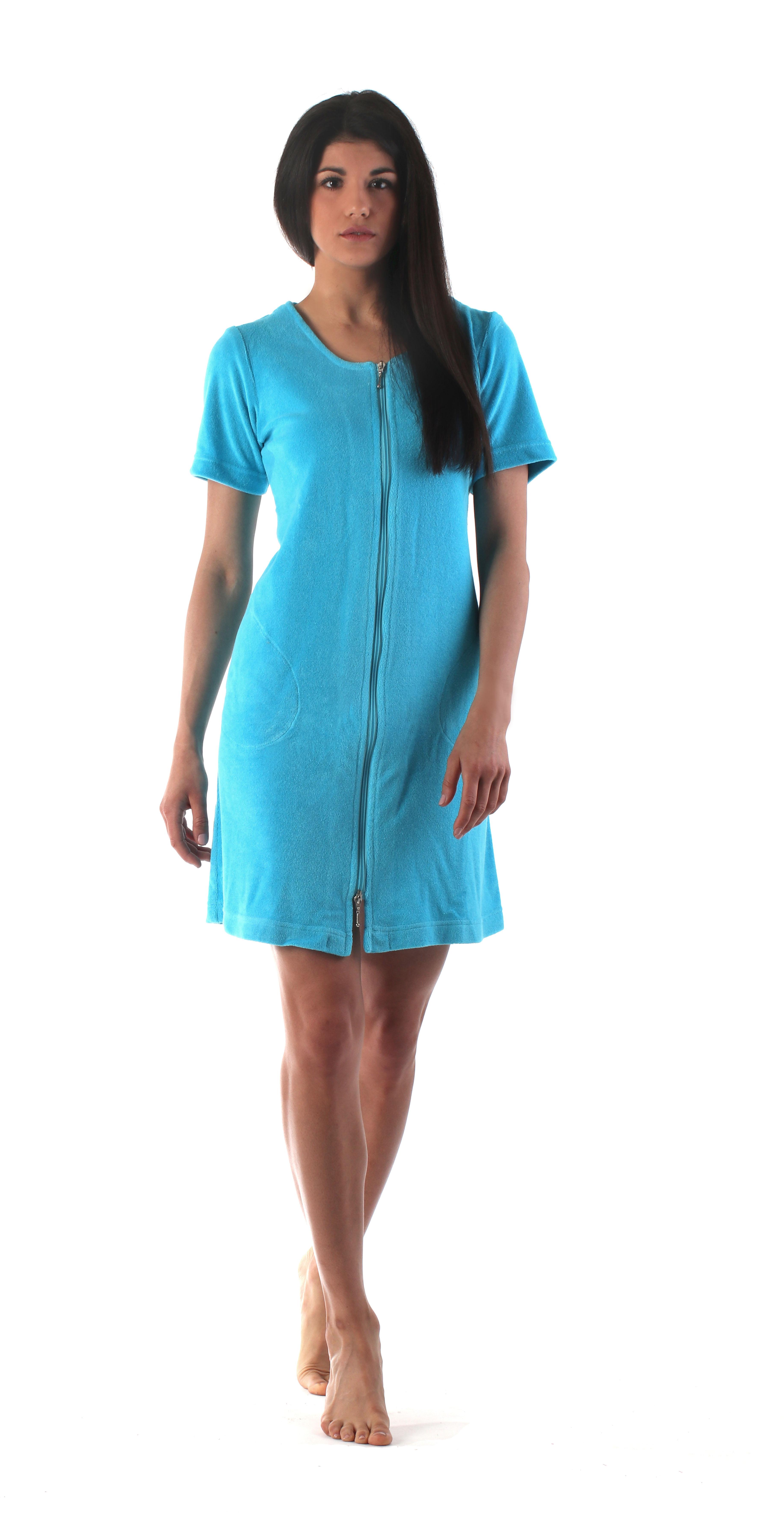 Dámské domácí šaty Bari 5164 6330 tyrkysová vel.S - Vestis 4d81a3cac4
