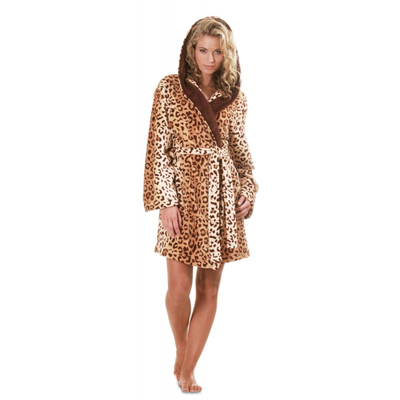 4e65248e8e46 Dámský župan 4956 3 4 Jungle leopard XL - Vestis